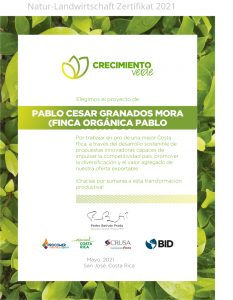 Natur Costa Rica Kaffee Zertifikat Madre Tierra